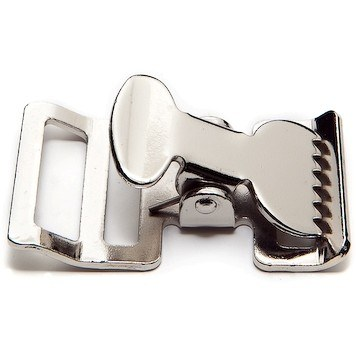 Metal T-Buckle in Nickel Plated Steel