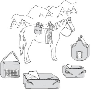 S7291 SADDLE AND HAY BAGS PATTERN