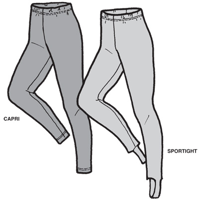 GP406 ADULT'S SPORTIGHT OR CAPRI