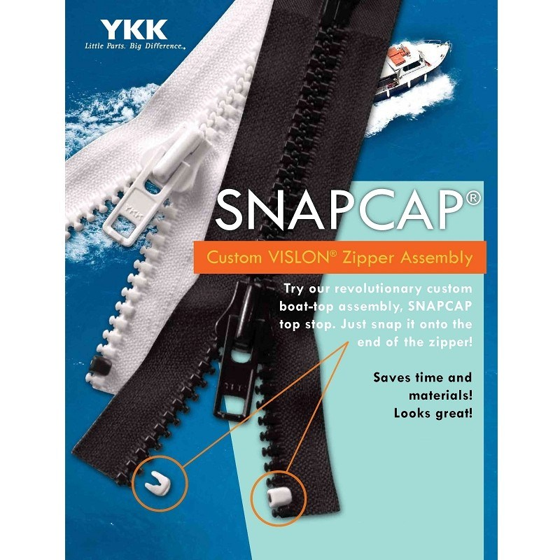 YKK® SNAPCAP Zipper Top Stops