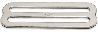 Stamped Single Bar Slide in Nickel Plated Steel