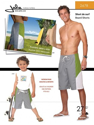 J2678 MEN'S BOARD SHORTS