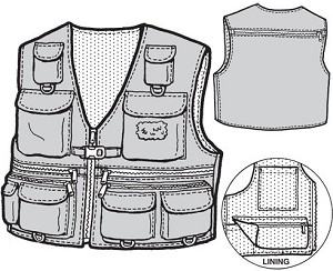 GP502 ADULT FISHING VEST