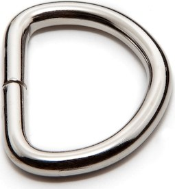 Standard Metal Split D-Rings in Nickel Plated Steel