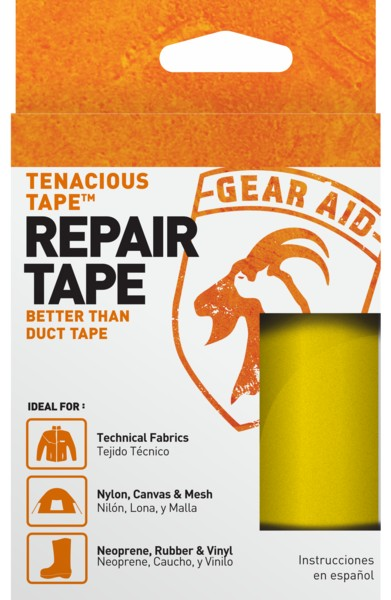"Gear Aid Tenacious Tape Yellow 3/""x20/"" Strong Flexible Repair Adhesive 3-Pack"