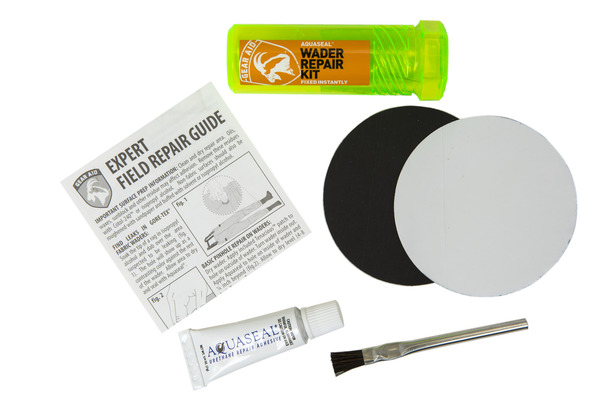 Gear Aid Aquaseal FD Repair Kit Patches /& Adhesive Gear Waders Neoprene Nylon