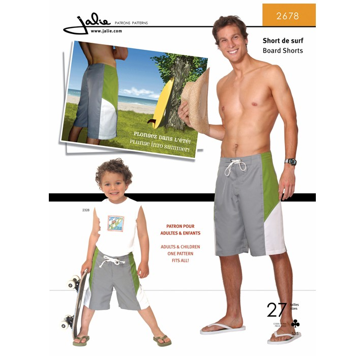 J2678 MEN'S BOARD SHORTS PATTERN