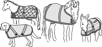 S7606 BLANKET OR SHEET FOR MINIATURE HORSES, FOALS, SMALL PONIES, & DOGS PATTERN