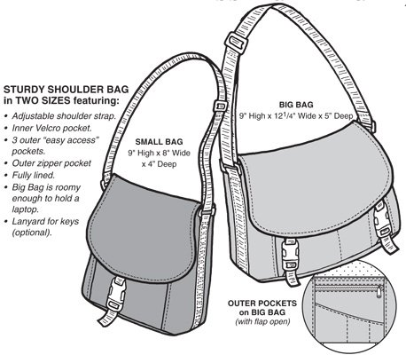 GP545 OREGON TRAIL MESSENGER BAG PATTERN