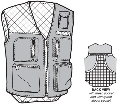 GP501 ADULT HUNTER'S VEST PATTERN