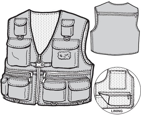 GP502 ADULT FISHING VEST PATTERN