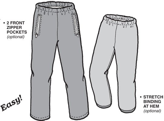 GP505 POLAR PANTS PATTERN