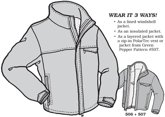 GP506 SKYLINE JACKET PATTERN PATTERN