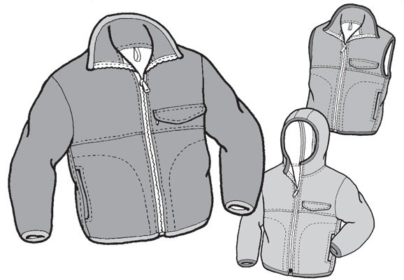 GP509 KIDS POLAR JACKET & VEST PATTERN
