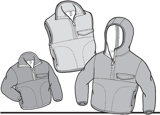 GP510 KIDS POLAR PULLOVER & VEST