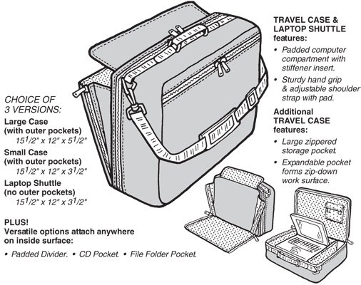 GP525 COMPUTER CASE & LAPTOP SHUTTLE PATTERN