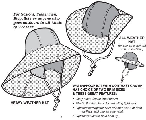 GP528 NORWESTER HAT PATTERN