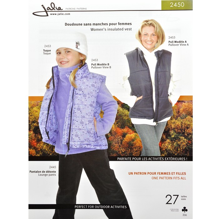 J2450 WOMEN'S INSULATED VEST PATTERN