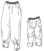 RS500 PULLOVER RAINPANTS PATTERN