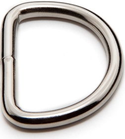 Light Weight Welded D-Rings in Nickel Plated Steel