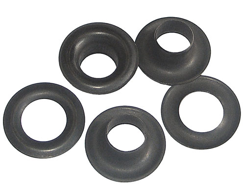 Gross - Plain Washer Grommets Black Anodized