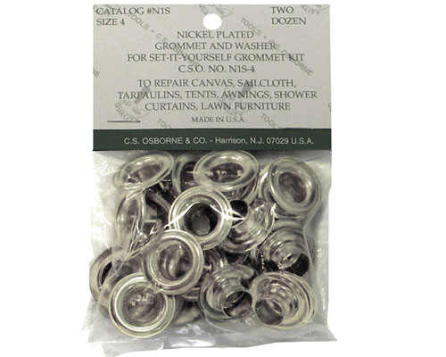Nickel - C.S. Osborne Plain Washer Grommet Refill