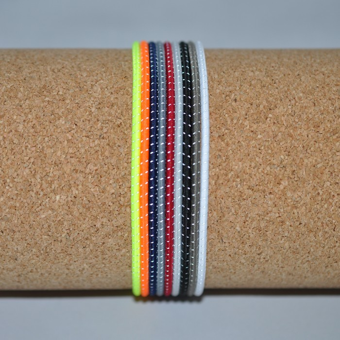 3 mm Reflective Shock Cord @ $1.30/ yard