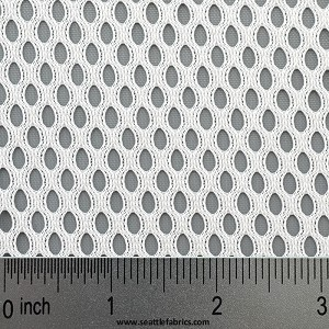 "60"" 8838 ""SALE"" White Polyester Athletic Mesh @ $7.25/ linear yard"