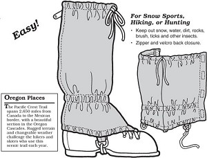 GP301 KIDS & ADULT X-COUNTRY GAITERS PATTERN