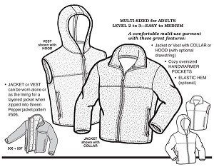 GP507 PLUSH POLAR JACKET & VEST PATTERN