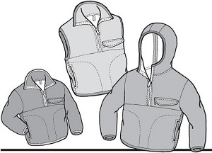 GP510 KIDS POLAR PULLOVER & VEST PATTERN