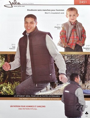 J2451 MEN'S INSULATED VEST PATTERN