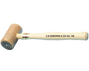 C.S. Osborne #196: Rawhide Mallet with Solid Head