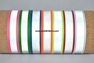 "7/8"" Reflective Polyester Ribbon @ $2.00/ yard"