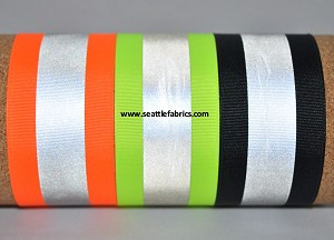 "2-1/4"" Reflective Ribbon @ $3.00/ yard"