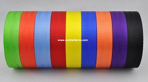 "1"" 5 Bar Nylon Seatbelt Weave Webbing @ $1.00/ yard"