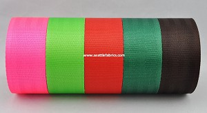 "2"" 7 Bar Polyester Seatbelt Weave Webbing @ $1.60/ yard"
