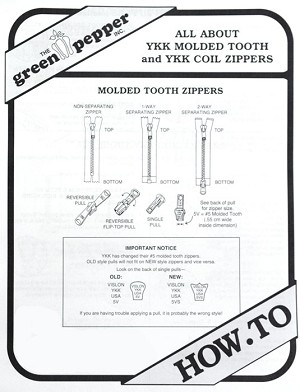 GP8711 ALL ABOUT YKK ZIPPERS PATTERN